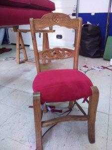 Silla 2 tapizados artesanos, tapiceros, retapizados, tapizados a medida