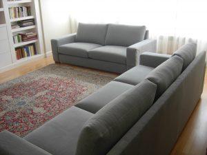 sofas mirlo 3 y 2 tapizados artesanos, tapiceros, retapizados, tapizados a medida